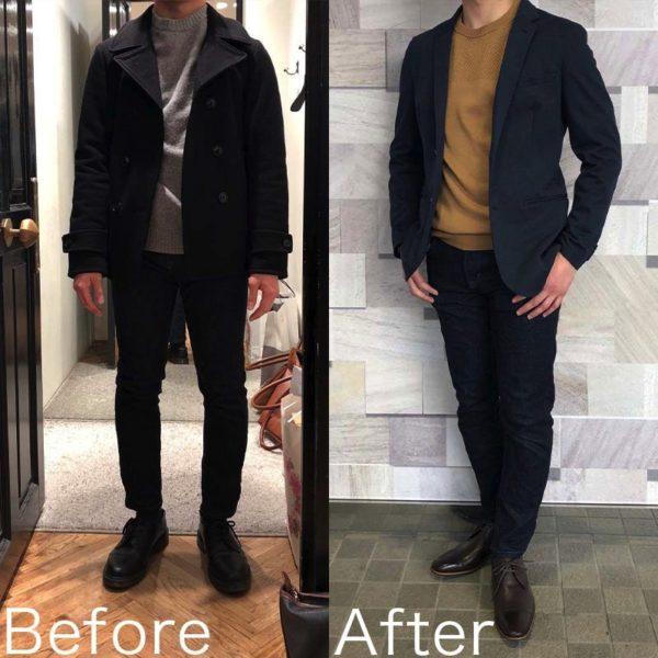 ファッションコーディネート後の変化