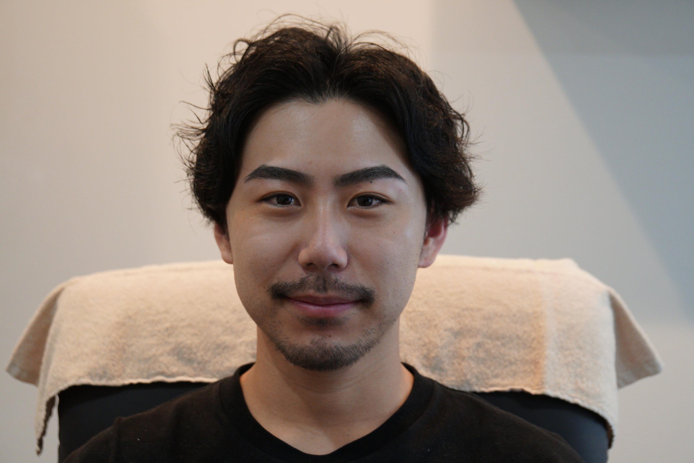 メンズ眉毛の形写真例