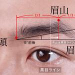 メンズ眉毛の眉山と眉尻と眉頭の位置