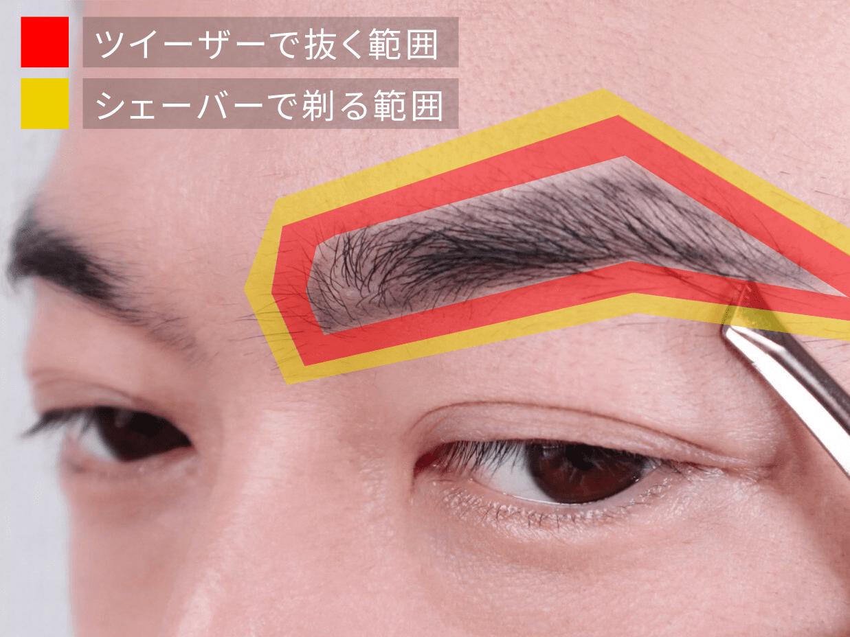 メンズ眉毛を整える