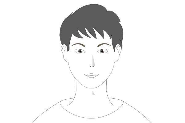 アーチ型の眉毛の形の特徴