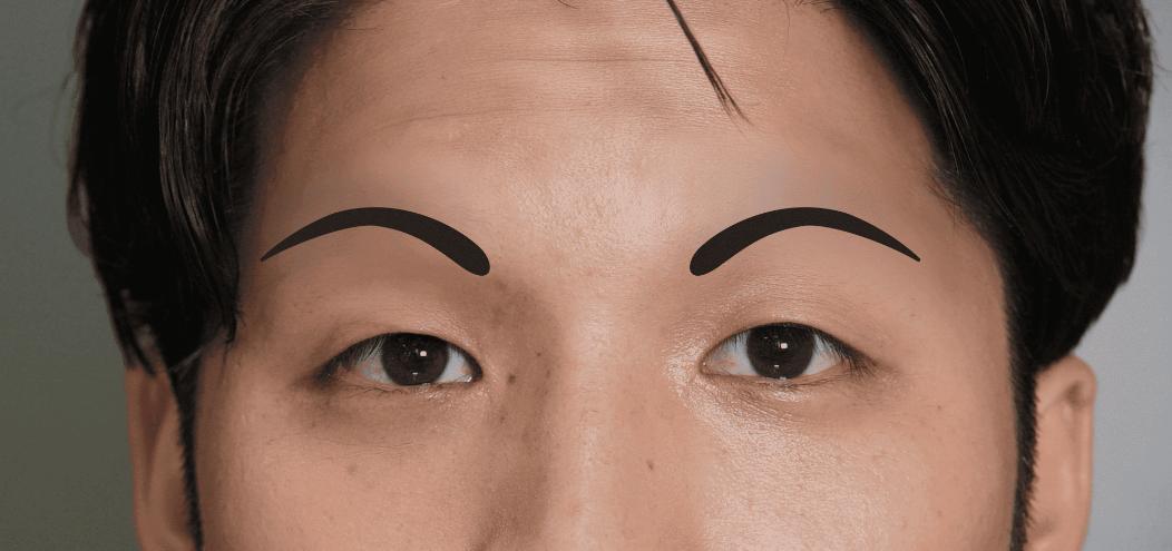 アーチ型のメンズ眉毛