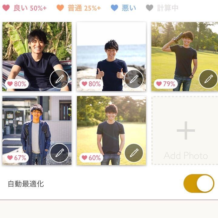 婚活サイト・アプリ内のプロフィール写真例